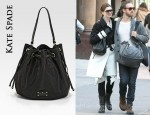 In Anne Hathaway's Closet - Kate Spade Katie Drawstring Bag
