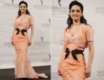 Archie Panjabi In Carolina Herrera - 39th International Emmy Awards