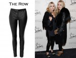 In Ashley Olsen's Closet - The Row Smashton Leather Leggings