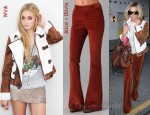 In Ashley Tisdale's Closet - Alice + Olivia Corduroy High Waisted Flare Pants and Wink Tiffany Jacket