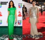 Best Dressed Of The Week - Zoe Saldana In Elie Saab & Freida Pinto In Antonio Berardi