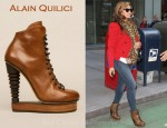 Sidewalk Style: Beyonce Knowles' Alain Quilici Booties & Alexander McQueen Scarf