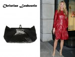 In Blake Lively's Closet - Christian Louboutin Loubis Angel Python and Suede Bag