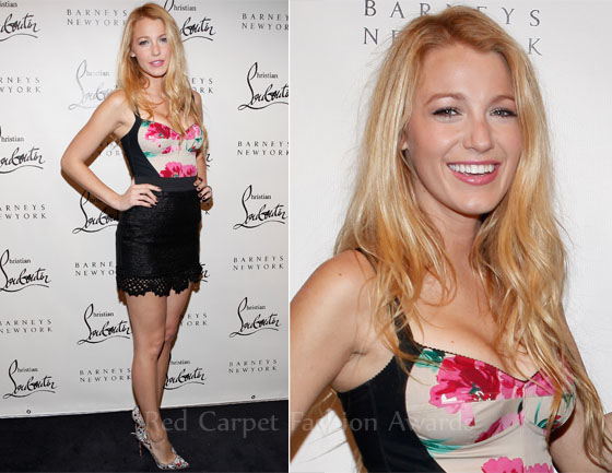 5bdda719 Blake Lively In Dolce & Gabbana – Christian Louboutin's Barney's New York  Cocktail Party