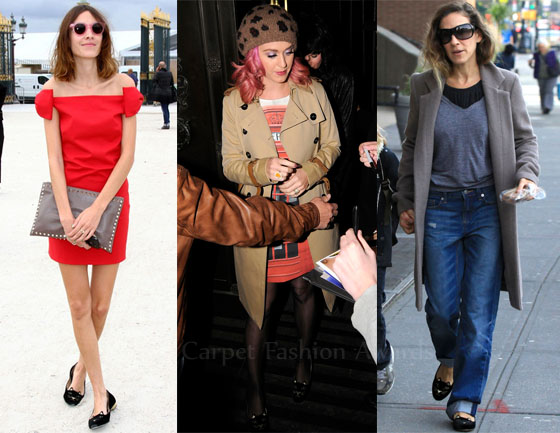 Celebrity Red Flats
