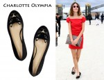 In Alexa Chung's Closet - Charlotte Olympia Kitty Embroidered Velvet Flats