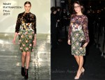 Danielle Lineker In Mary Katrantzou - The Halcyon Gallery VIP Opening