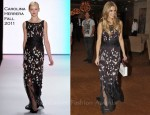 Delta Goodrem In Carolina Herrera - President's Cup Gala Dinner