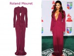 In Demi Lovato's Closet - Roland Mouret Compeyson Zip-Front Stretch Crepe Gown