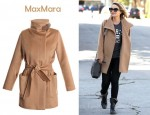 In Dianna Agron's Closet - MaxMara Sargano Camel Hair Coat