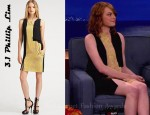 In Emma Stone's Closet - 3.1 Phillip Lim Sleeveless Peek-A-Boo Panel Dress