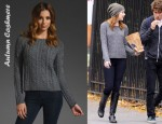 In Emma Stone's Closet - Autumn Cashmere Fisherman Crew Sweater