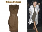 In Eva Longoria's Closet - Vivienne Westwood Khaki Fitted 'Fond' Sleeveless Dress