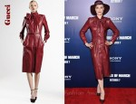 In Evan Rachel Wood's Closet - Gucci Leather Dress