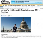 London's 1000 Most Influential People 2011: Fashion