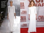 Faith Hill In Chado Ralph Rucci - 2011 CMA Awards