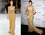 Florence Welch In Alexander McQueen - Harper's Bazaar Women Of the Year Awards 2011