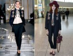 Heathrow Style: Florence Welch's Jason Wu Swarovski Elements Embellished Coat