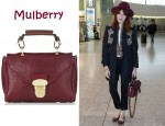 In Florence Welch's Closet - Mulberry Polly Push Lock Textured Leather Shoulder Bag
