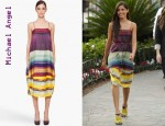 In Freida Pinto's Closet - Michael Angel Silk Slip Dress