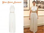 In Gemma Arterton's Closet - Yves Saint Laurent Chain Embellished Crepe Jumpsuit