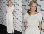 Gillian Anderson In Vintage Christian Dior Couture - InStyle Magazine's 10th Anniversary Party