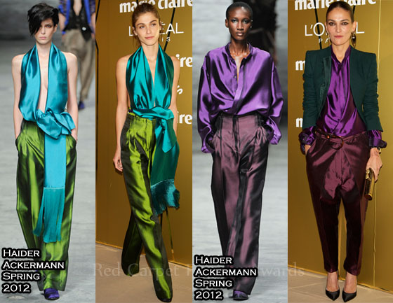 Celebrities In Haider Ackermann At The 2011 Marie Claire ...