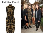 In Isabeli Fontana's Closet - Emilio Pucci Appliquéd Stretch Wool Dress