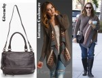 In Jennifer Garner's Closet - Autumn Cashmere Fairisle Drape Cardigan and Givenchy Textured Pandora Shoulder Bag