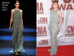 Jennifer Nettles In Naeem Khan - 2011 CMA Awards