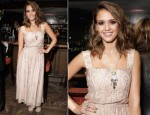 Jessica Alba In Dolce & Gabbana - Swarovski Elements Private Holiday Dinner