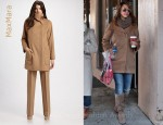 In Jessica Alba's Closet - MaxMara Camel Hair Coat