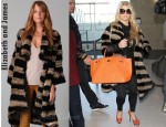 In Jessica Simpson's Closet - Elizabeth and James Salma Rabbit Fur Coat