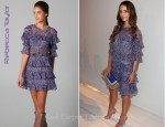 In Jordana Brewster's Closet - Rebecca Taylor Lace Print Ruffle Dress