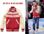 In Justin Bieber's Closet - Junya Watanabe Fair Isle Wool and Leather Varsity Jacket