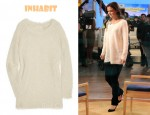 In Katie Holmes's Closet - Inhabit Textured Alpaca and Silk-Blend Sweater