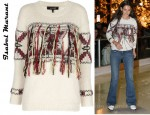 In Katie Holmes' Closet - Isabel Marant Yoan Alpaca Blend Instarsia Sweater