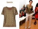 In Katie Holmes's Closet - Lanvin Chinese Lamé T-Shirt