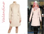 In Katy Perry's Closet - Valentino Studded Wool Cashmere Cloth Coat