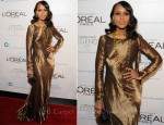 Kerry Washington In Ralph Lauren - L'Oreal Paris Legends Gala