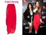 In Khloe Kardashian's Closet - Prabal Gurung Draped Silk-Georgette Skirt