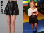 In Kristin Cavallari's Closet - Alice + Olivia Pleated Leather Skirt