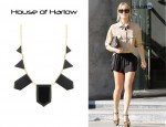 In Kristin Cavallari's Closet - House of Harlow 1960 Jewellery Plated Resin Stations Necklace