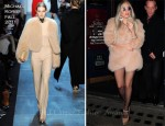Sidewalk Style: Lady Gaga's Michael Kors Fur Coat