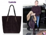 In LeAnn Rimes's Closet - Lanvin Miss Sartorial Suede Tote