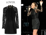 In LeAnn Rimes's Closet - Lover Mademoiselle Lace And Jersey-Crepe Dress