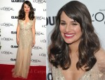 Lea Michele In Jenny Packham - Glamour's 2011 Women Of The Year Awards