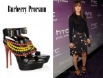 In Leighton Meester's Closet - Burberry Prorsum Verulam Beaded Leather Sandals
