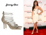 In Leighton Meester's Closet - Jimmy Choo Lauren Diamanté And Suede Sandals