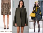 In Leighton Meester's Closet - Gryphon Combo Sherlock Cape and Alice and Olivia Oshi Skirt